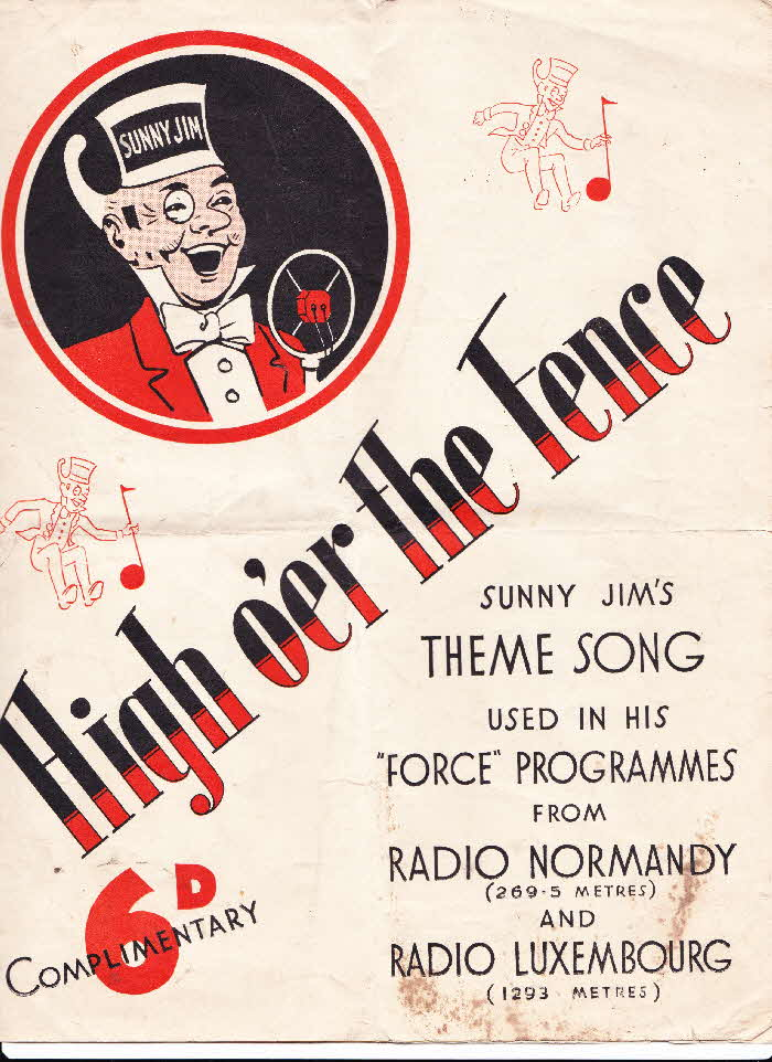 1920s Force Sheet Music High O'er the Fence (1)