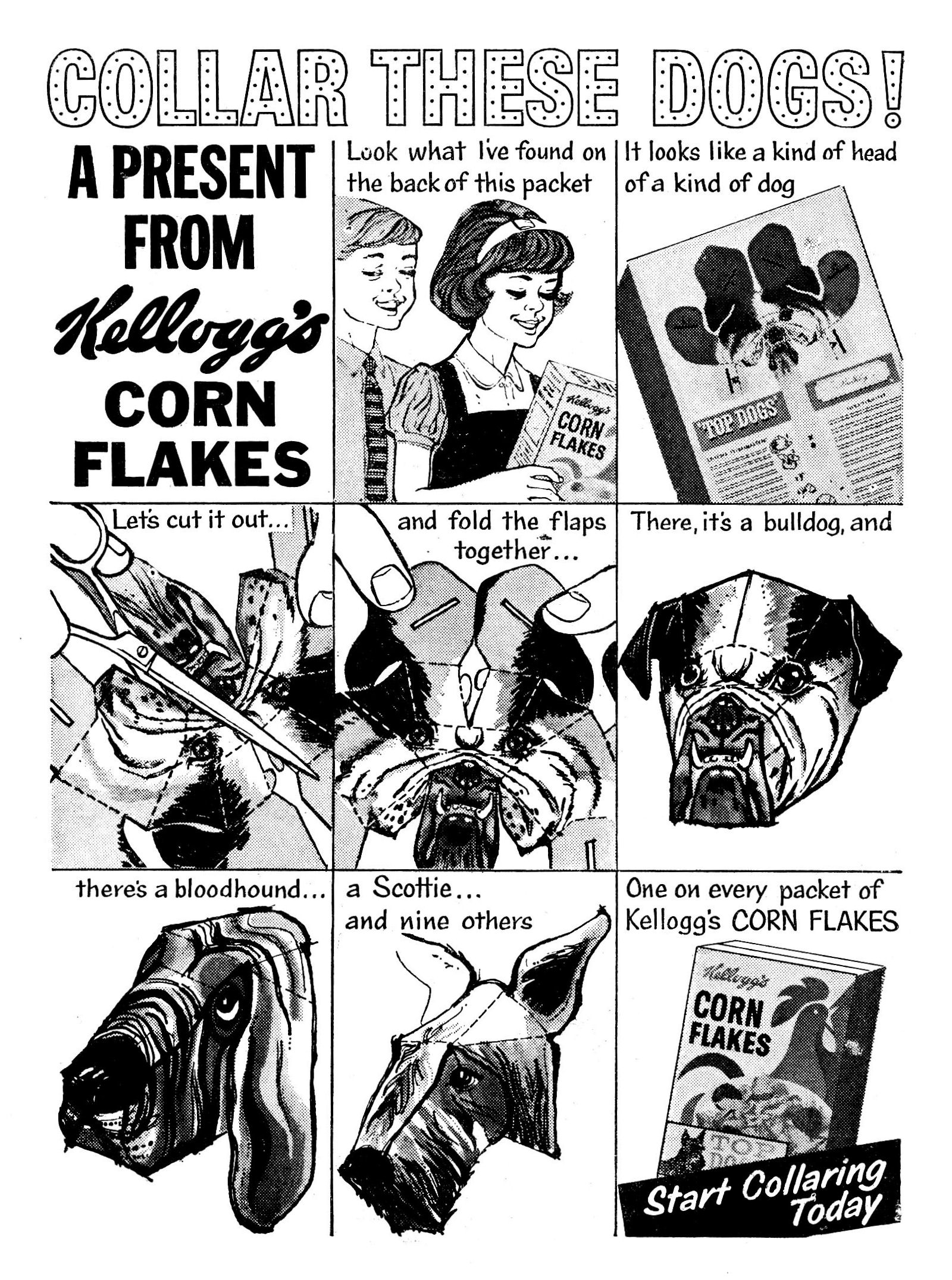 1964 Cornflakes Top Dog Heads