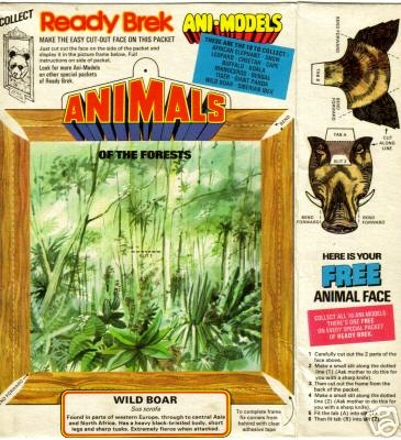 1970s Ready Brek Animodels of the Forest - Wild Boar (betr)