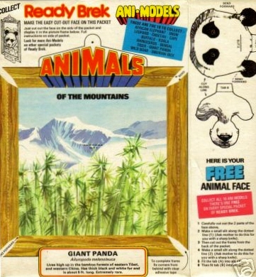 1970s Ready Brek Animodels of the Mountains - Panda (betr)