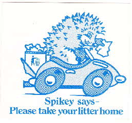1976 Shredded Wheat Spoonsize Spikey's Sticker (2)