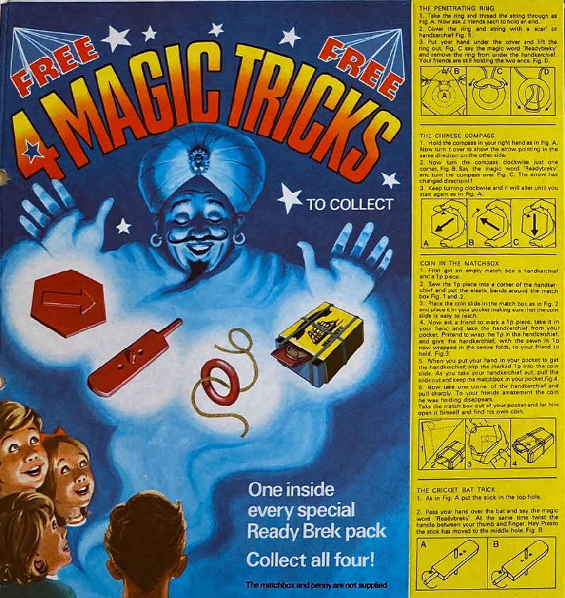 1980s Ready Brek Magic Tricks