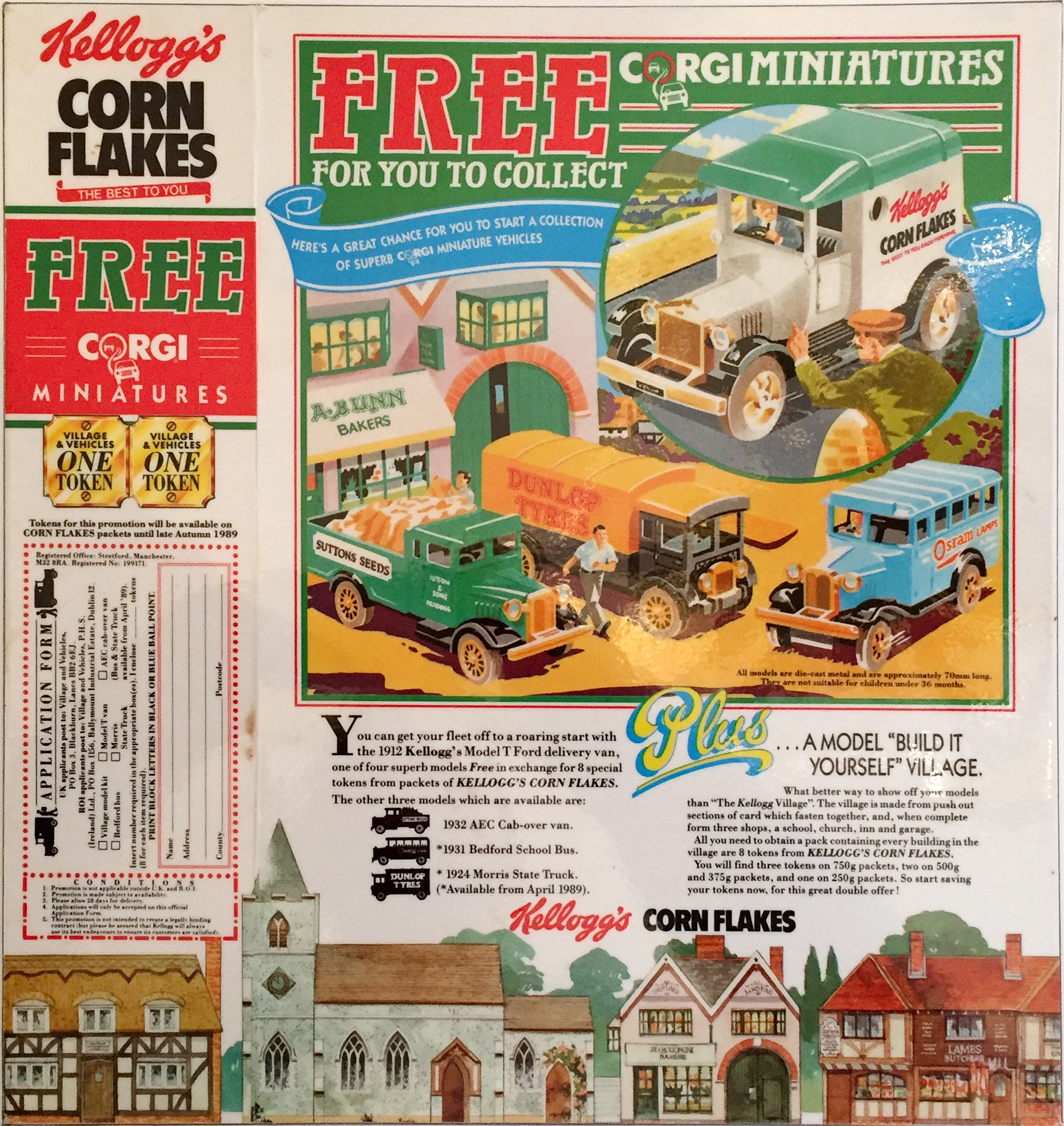 1989 Cornflakes Village Corgi Minitures collection 1st issue