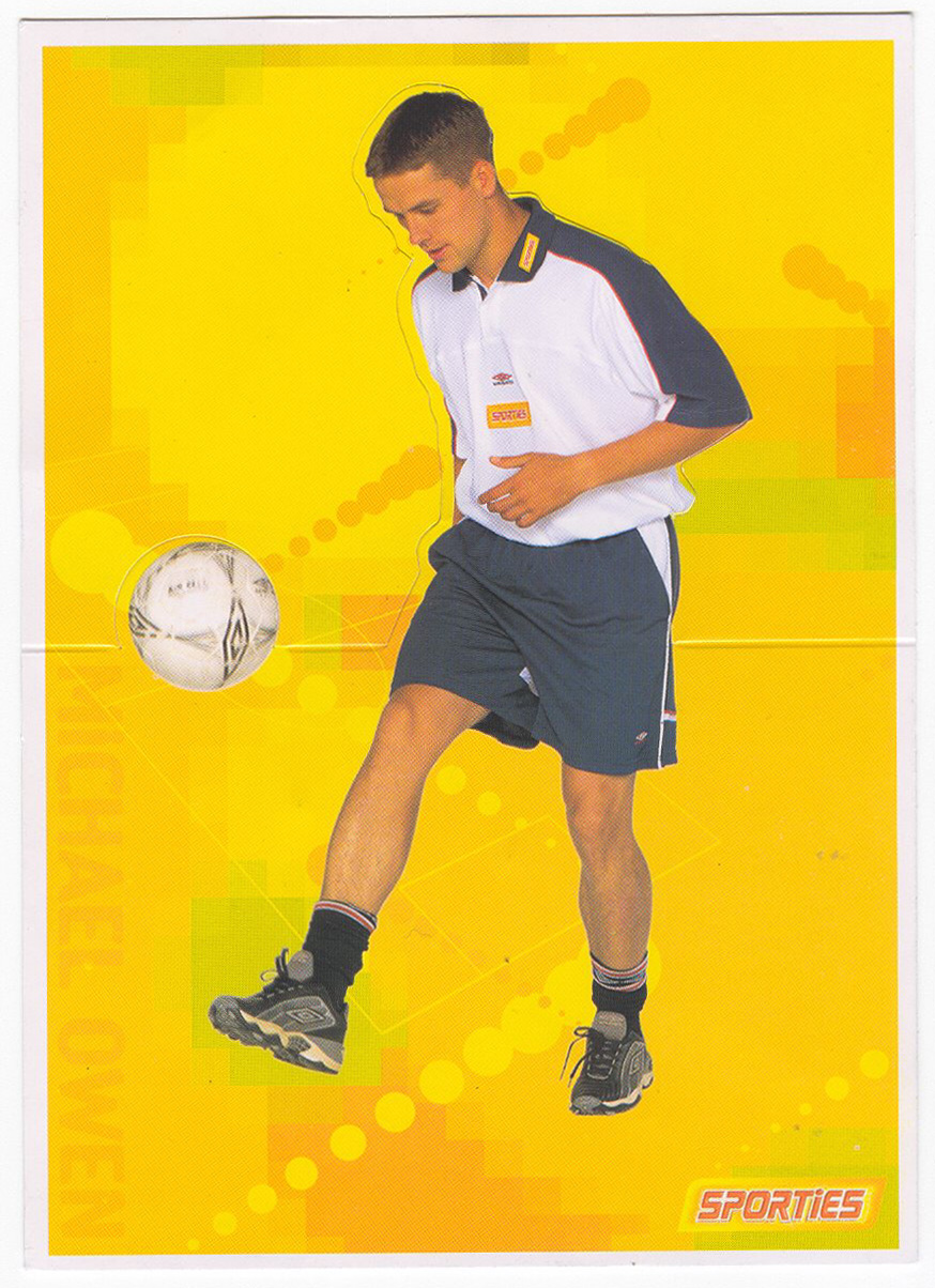 2001 Sporties Michael Owen Postcard