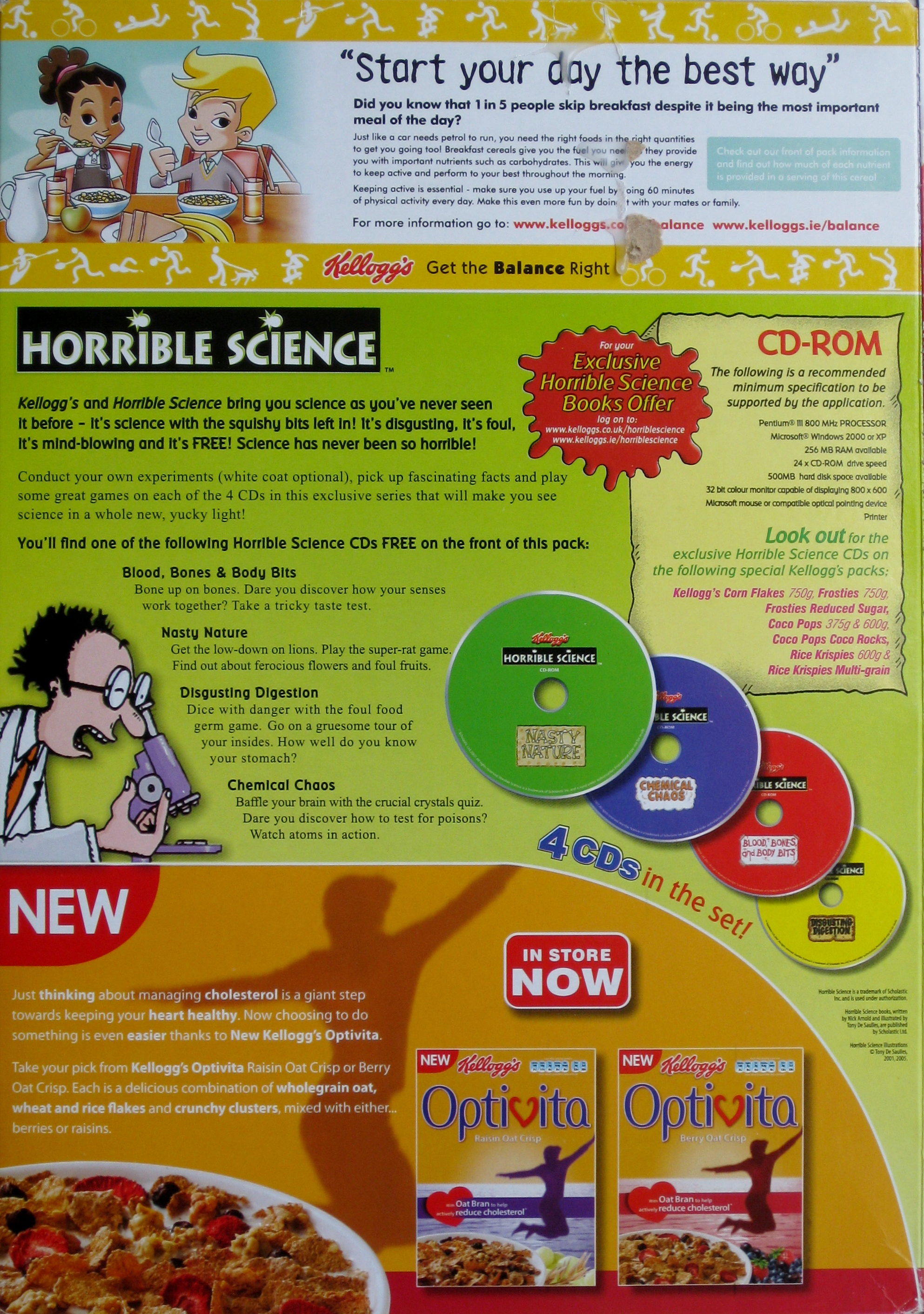 2006 Cornflakes Horrible Science CD Rom back