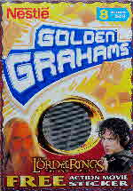 2002 Golden Grahams Lord of the Rings Action Cards front