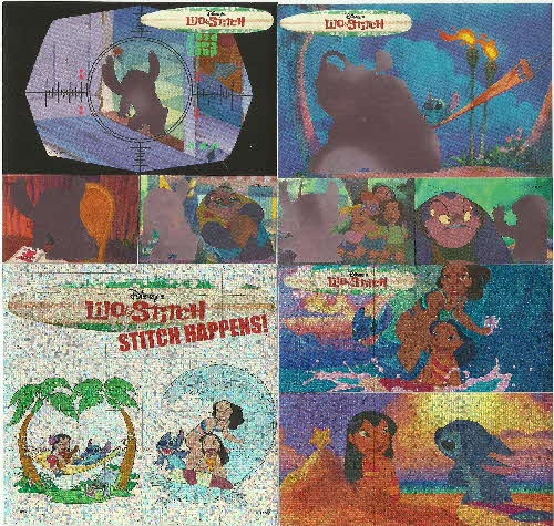 2002 Golden Nuggets Lilo & Stitch Action Stickers (2)