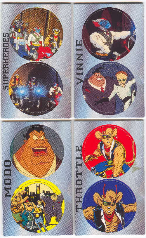 1995 Cheerios Biker Mice from Mars Pogs