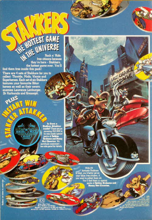 1995 Cheerios Biker Mice from Mars Stakkers1