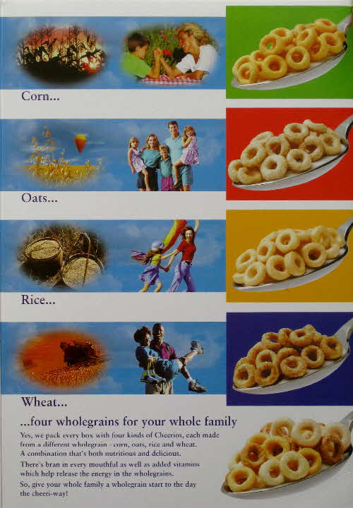 1998 Cheerios Free Frisbee General packet back
