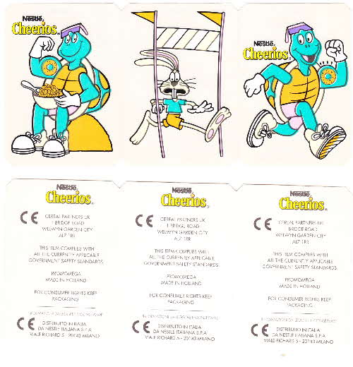 1993 Cheerios Dazzling Dayglo stickers open (2)