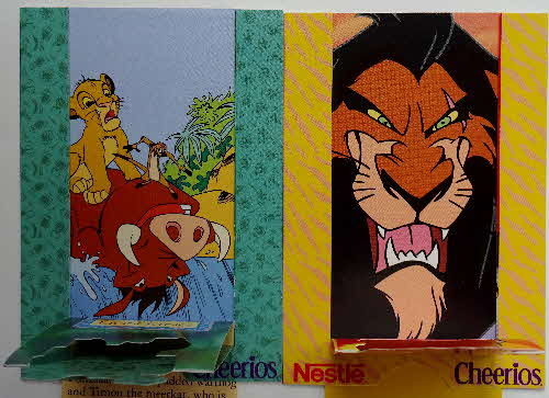 1994 Cheerios Multi Lion King Pop Ups 1 (3)
