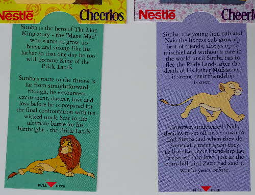 1994 Cheerios Multi Lion King Pop Ups 2 (2)