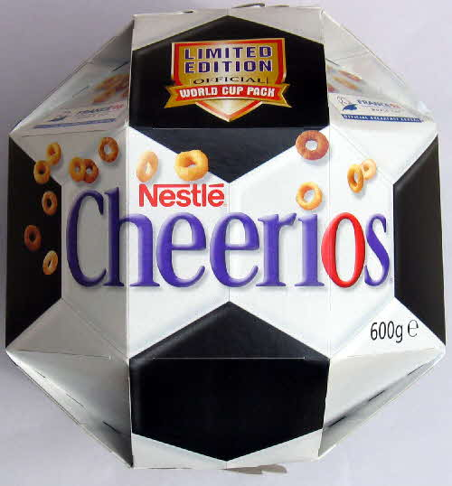 1998 Cheerios Football pack top