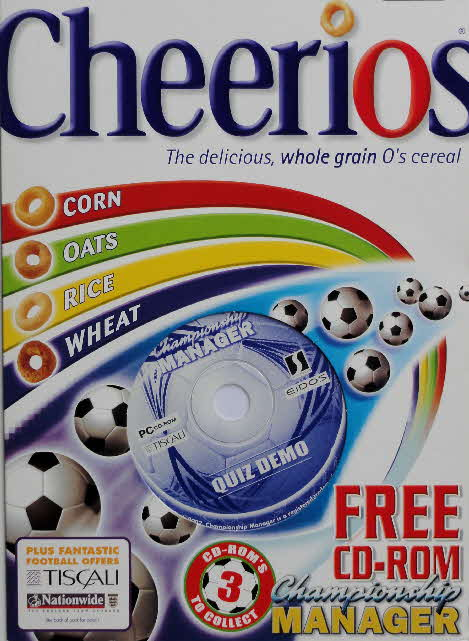 2002 Cheerios Championship Manager CD ROM front (2)