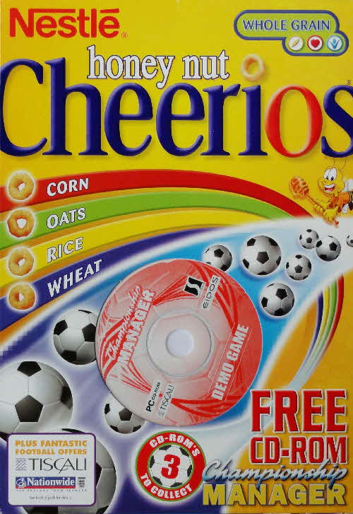 2002 Cheerios Championship Manager CD Rom front 2