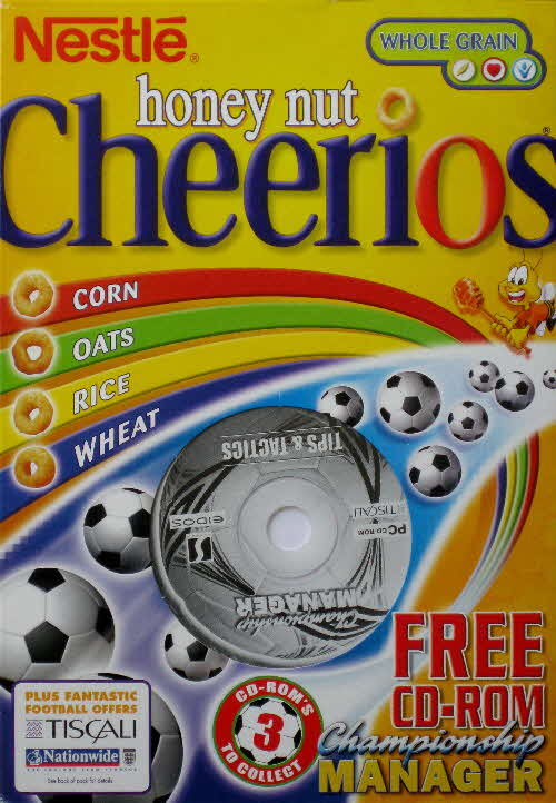 2002 Cheerios Championship Manager CD Rom front
