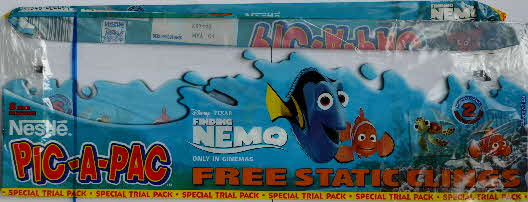 1993 Nestle Pic A Pac Free Static Clings