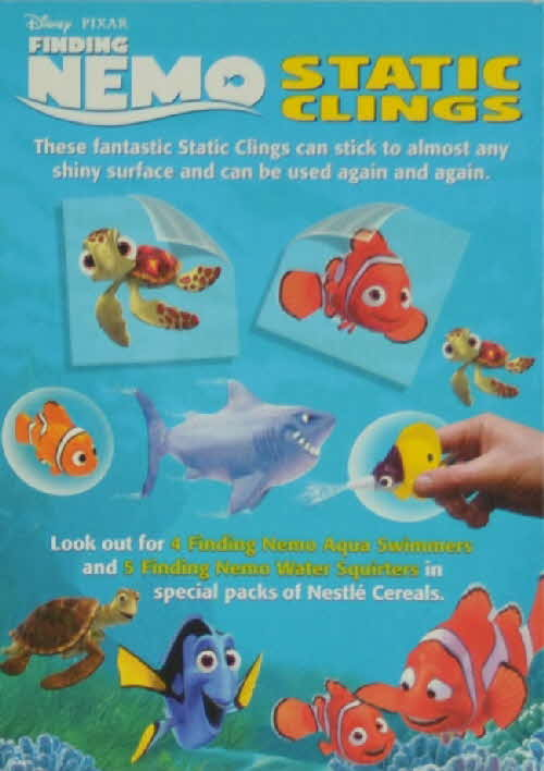 2002 Cheerios Finding Nemo Static Clings