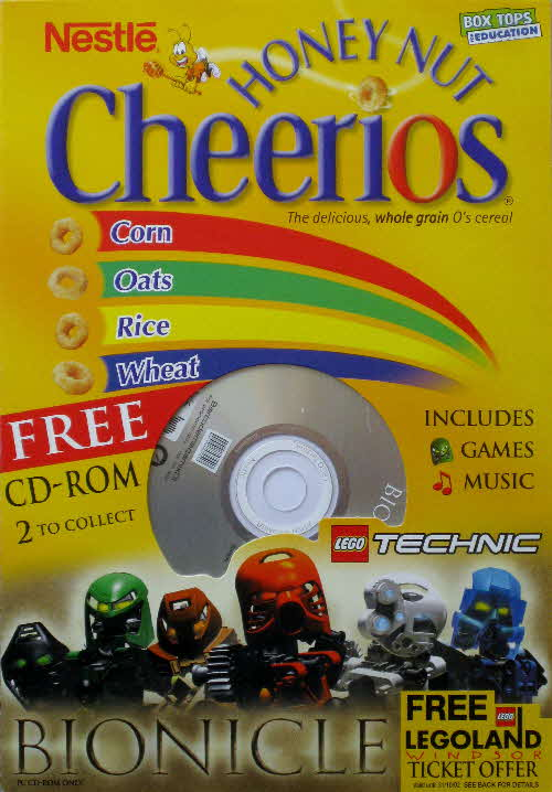 2001 Cheerios Bionicle CD Rom - Music