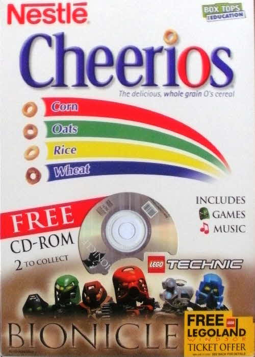 2001 Cheerios Bionicle CD Rom - Technic1