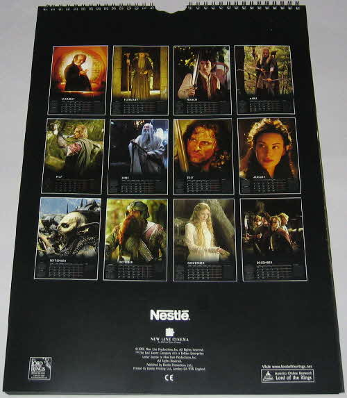 2001 Clusters Lord of the Rings 2002 Calendar (1)