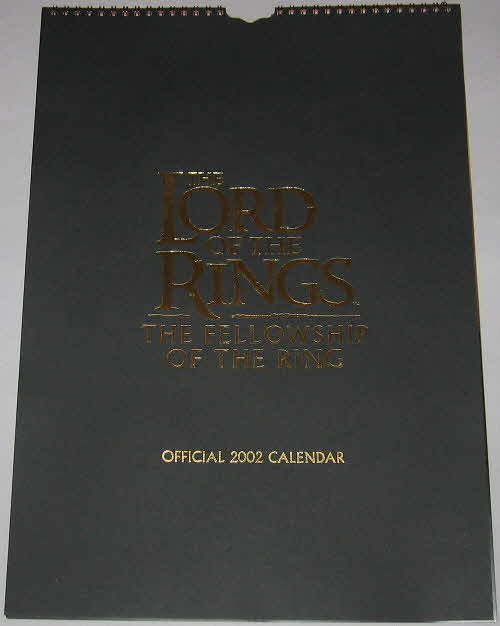 2001 Clusters Lord of the Rings 2002 Calendar (2)