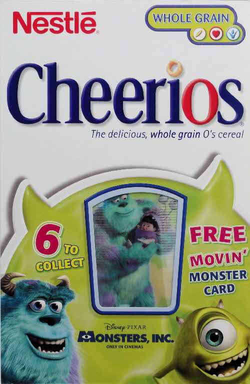 2001 Cheerios Monsters Inc Moving Cards front 1 (1)