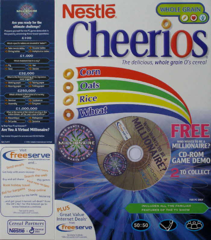 2001 Who Wants to Be a Millionairre CD Rom pack 3