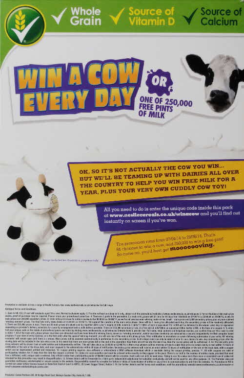 2014 Cheerios Win a Cow