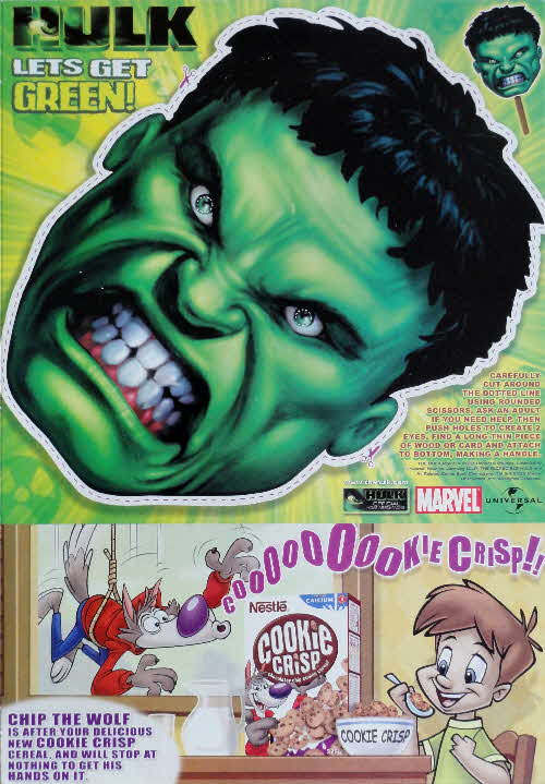 2003 Cookie Crisp Hulk Mask
