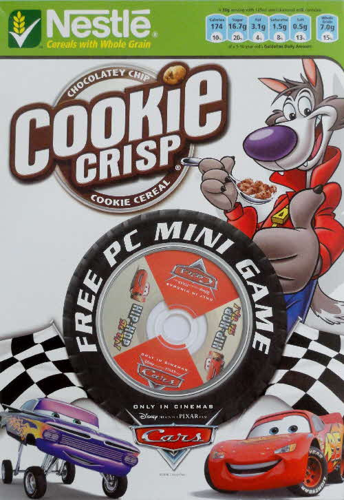 2006 Cookie Crisp Cars PC Mini Game front 2