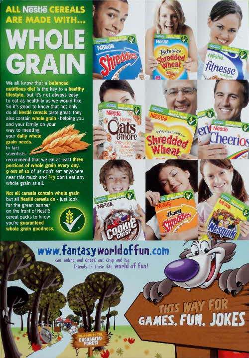 2007 Cookie Crisp Whole Grain and Fantasy World