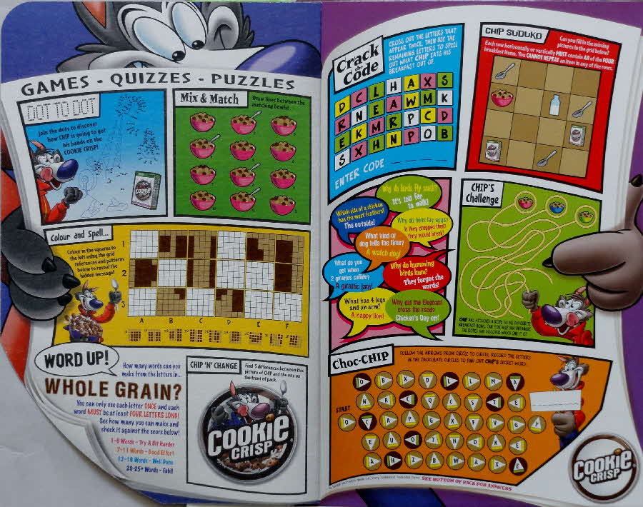 2006 Cookie Crisp Full of Fun Games Quizzes & Puzzles inside