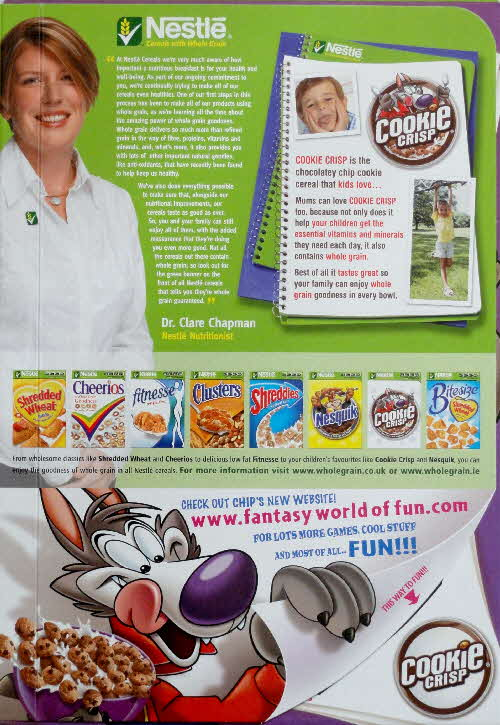 2006 Cookie Crisp Full of Fun Games Quizzes & Puzzles outside