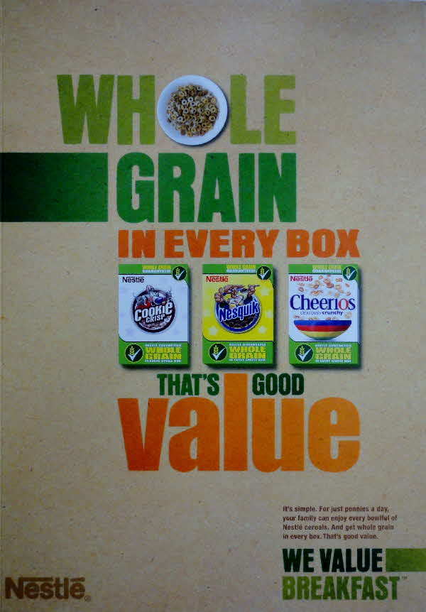 2009 Cookie Crisp Whole Grain in Every Box
