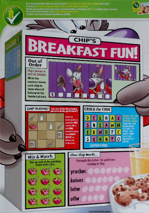 2011 Cookie Crisp Chips Breakfast Fun 2