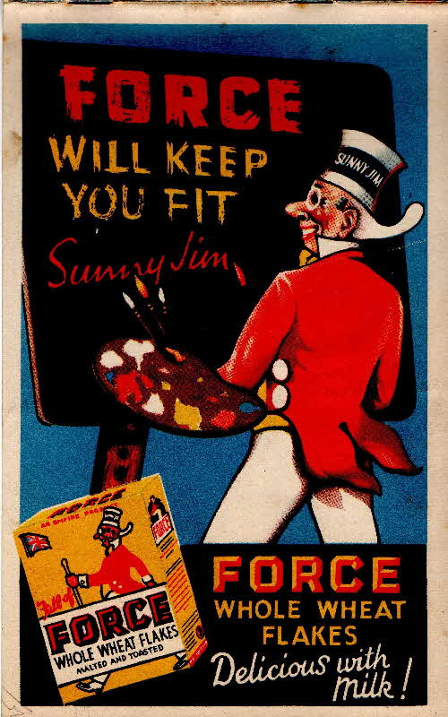 1939 Force Sunny Jim Painting Book back cover