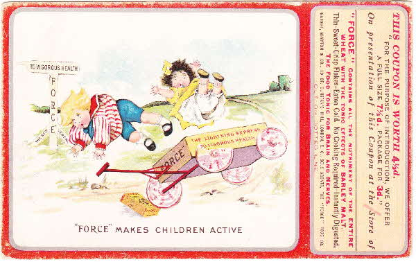 1910s Force Cereal Postcard