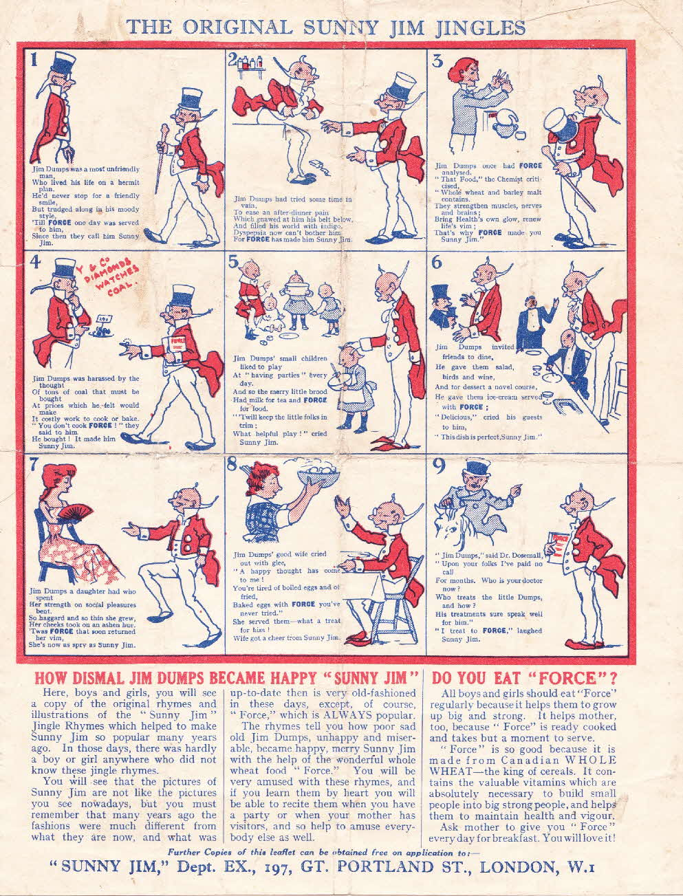 1930s Force Sunny Jim Game & Jingle (2)