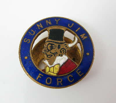Force Cereal Sunny Jim badge