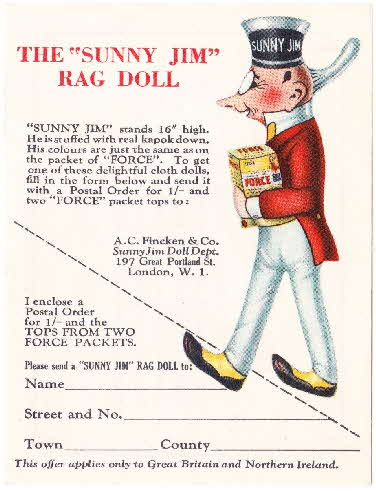 1930s Force Recipe & Rag Doll coupon (2)
