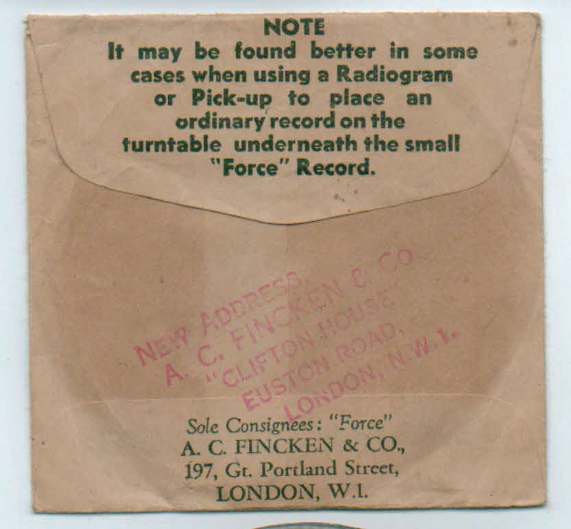 1930s Force Cardboard Record (1)