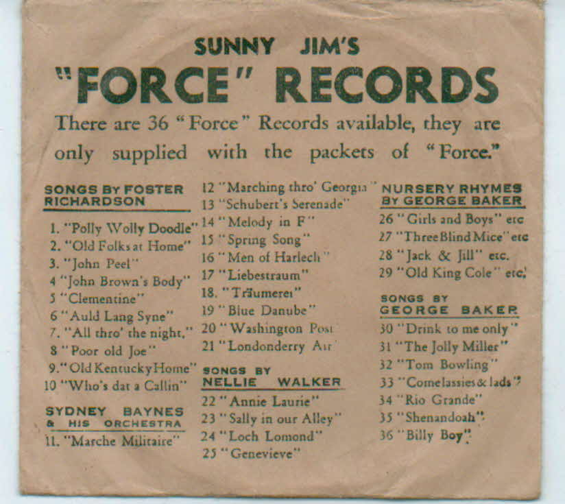 1930s Force Cardboard Record (3)