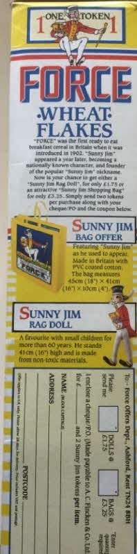 1987 Force Special Recipes Bag & Doll Offer