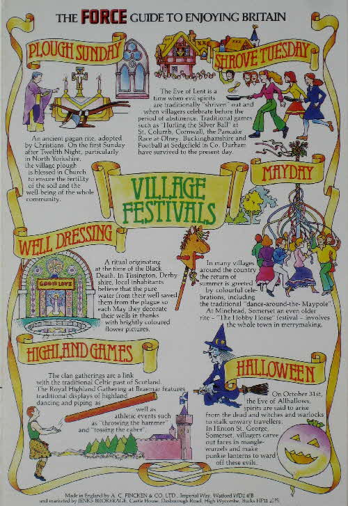 1982 Force Guide to Enjoying Britain - Village Festivals
