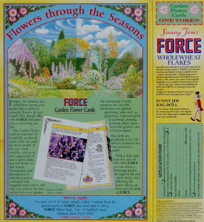 1993 Force Garden Flower Cards