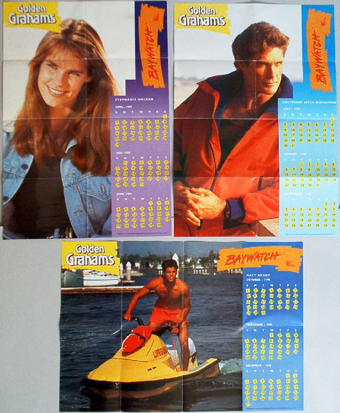 1995 Golden Grahams Baywatch Calendar