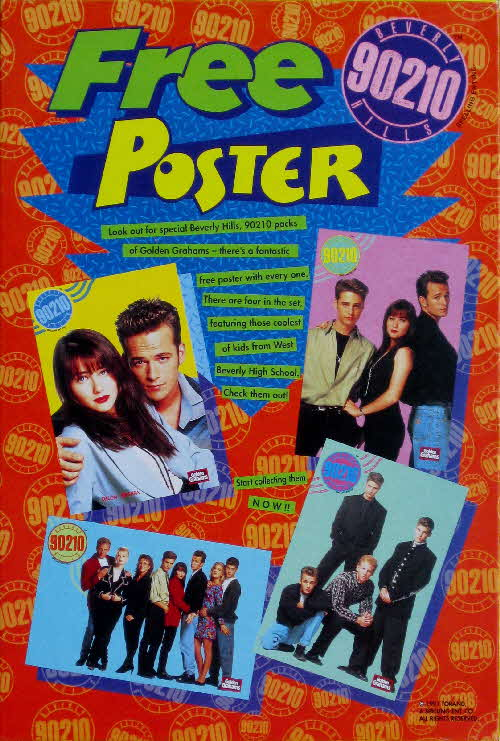 1992 Golden Grahams 90210 Poster