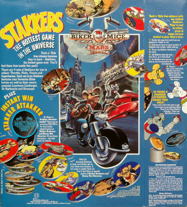 1995 Golden Grahams Biker Mice Stakkers